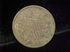 1865 Two Cent United States Coin Fine Condition Priced to Sell   eBay