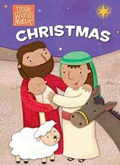 """PRECIOUS!  Only 12 """"topic"""" words in the whole board book, forcing family members to tell the Christmas story in their own words.  I cannot wait to have G's cousins tell her the story in their own special way!  Christmas (board book) (Little Words MatterTM) by B&H Kid... https://www.amazon.com/dp/1433644541/ref=cm_sw_r_pi_dp_x_eHjlyb7Z98XE9"""