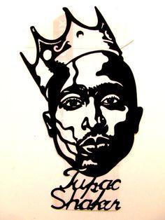 THIS IS NOT A PRINT--COMPUTER DESIGNED--OR VINYL PLOTTER MACHINE CUT. Pop Art hand-cut Tupac Shakur Peel-N-Stick Sticker 3(width) X 7(height) #art #Stickers #streetart #popart #artworks #VinylStickers #stencil #stencilart #Vinylsticker #stencilpatterns #VinylDecal #WallDecor #Stickers #HipHop #2pac #TupacShakur