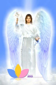 Gabriel / White Flame / Brotherhood of light / Great White Brotherhood Catholic Archangels, Seven Archangels, Angel Pictures, Jesus Pictures, Angels Among Us, Angels And Demons, Male Angels, Peace Poster, San Gabriel