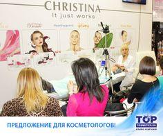 """В рамках направления Профессиональная косметология компания """"ТОП Косметикс"""" предоставляет специалистам максимально полный перечень брендов, актуальные знания в области косметологии, возможность обмениваться опытом и узнавать о новинках. #CHRISTINA, #TOPCosmetics, #Top_Cosmetics #Care #Skin #Skin_care #Beauty #TopcosmeticsUkraine #Christina_Cosmetics #Cosmetics #Cosmetology #Cosmetologist #Beauty #Beauty_care #Face #Face_Care"""