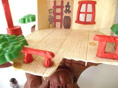 1970s Original Weeble Wobble Clubhouse Tree House.