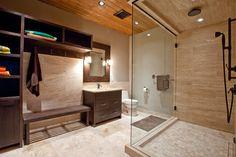 Dreamy bath for a lake cabin