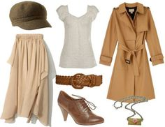 """inspiration from Eponine... """"on my own""""  // brown boots & bag  gold jewelry"""