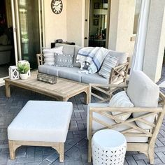 Outdoor Living Rooms, Outdoor Spaces, Outdoor Kitchens, Porch Furniture, Outdoor Furniture Sets, Outdoor Sofa, Outdoor Decor, Patio Gazebo, Patio Chairs
