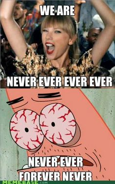 Taylor Swift + Patrick Star. lol