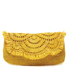 Mar Y Sol Crochet Clutch, Giselle in Sunflower