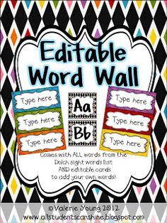 Awesome interactive word wall what a great idea top teachers all students can shine classroom decor and organization publicscrutiny Image collections