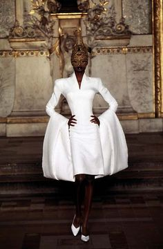"notordinaryfashion: ""saloandseverine: "" Debra Shaw at Givenchy HC Spring 1997 "" Love """