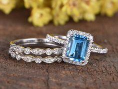 Vintage Art deco Bridal Moissanite Ring Set Gift for Women 2.25cts Lab Ruby Gemstone Engagement Ring Set Unique 3pcs Ring Set For Her