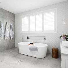 bathroom inspo Just sharing a few of our happy customers incredible transformations over the past year Product List Bavaria Stone Ice Amber Hampton Style Bathrooms, Grey Bathrooms, Modern Bathroom, Small Bathroom, Master Bathroom, Bathroom Showers, Bathrooms Online, Bathroom Bath, Bath Tub