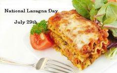 July 29: National Lasagna Day