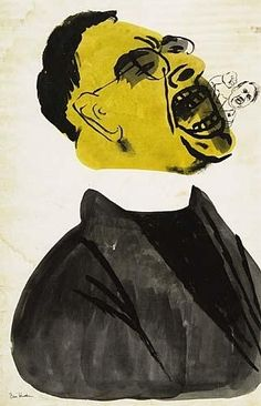 Ben Shahn – Screaming Priest (Father Coughlin), Hitler at his Mouth, 1940 People Illustration, Illustration Styles, Ben Shahn, San Francisco Museums, Unusual Art, Jewish Art, Art Archive, Museum Of Fine Arts, Heart Art