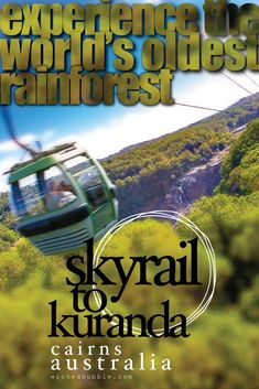 Exploring the World's Oldest Rainforest and avoiding mosquitos sounds like a plan! Searching for things to do in Cairns - Skyrail provides a spectacular alternative to experiencing a world heritage rainforest. Soar above the rainforest canopy on your way to the charming hinterland market town of Kuranda. | Cairns Things To Do | Great Barrier Reef | Must See Australia #travelaustralia #skyrail #australiarainforest