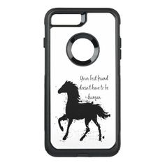 Best Friend Doesn't have to be Human Horse OtterBox Commuter iPhone 8 Plus/7 Plus Case - quote pun meme quotes diy custom
