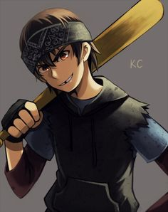 Casey Jones,  although the way this person drew him, he kinda looks like a human version of donnie :3