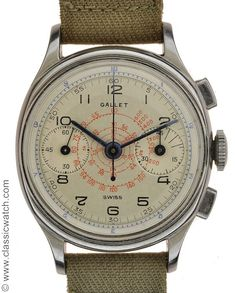 Gallet oval mini chrono