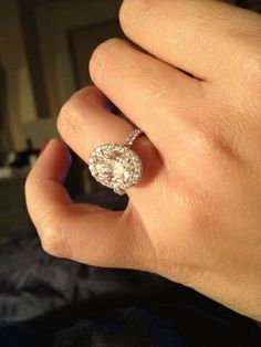 2.30 H VVS2 oval with 0.82 carats of diamonds in the setting (custom made by SH Zell, diamond district)