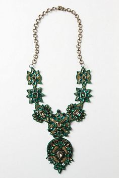 Handmade Green Ullapool Necklace by Deepa Gurnani