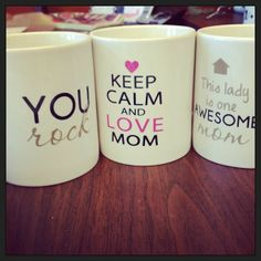 Mothers DayCeramic Mug: A great gift for that special mom! Mug Crafts, Crafts To Sell, Gifts For Your Mom, Perfect Gift For Mom, Sharpie Cup, Mother's Day Projects, Fathers Day Mugs, Love Mom, Mom Mug