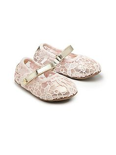 31aebf0db7a1 Stuart Weitzman - Infant s Floral Lace Mary Jane Flats · Stuart Weitzman Floral LaceMary JanesFlower Girl ...
