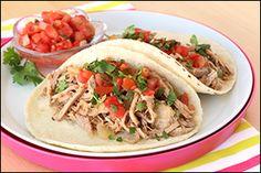 Hungry Girl's Crock-Pot Pork Tacos-Makes 12 servings-2 Tacos = 7 WWP+