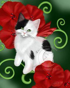 Ruby Cat by Melissa Dawn