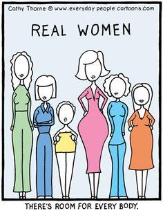 Real Women Cartoon