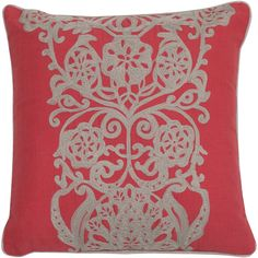 """As a """"punchy"""" décor accessory, this pillow featuring a floral embroidered pattern meets and beats expectations! We like the lively accent it adds to any space - a little girl's bedroom, a living room, Comfortable Pillows, Tuscan Style, New Living Room, Dream Decor, Room Colors, Girls Bedroom, Home Projects, Decorative Accessories, Decorative Pillows"""