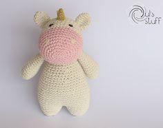 Unicornio de crochet, amigurumi, unicornio, unicornio amigurumi de DulsStuff en Etsy