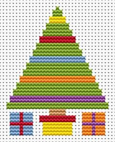 Sew Simple Christmas Tree cross stitch kit [SS-CT] Finished size approx 7.1cm x 9cm. Kit contains 11ct white aida fabric, stranded embroidery cotton, needle, colour chart and instructions. A brand new kit will be sent directly to you by Fat Cat Cross Stitch - usually within 2-4 working days © Fat Cat Cross Stitch