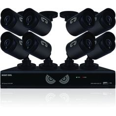 Night Owl 16Ch 1080 Lite HD Analog Video Security System w/ 1TB HDD & 8 Cameras, Multicolor