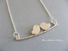 Two Little Love Bird Necklace Anniversary gifts by DevinMichaels, $17.50