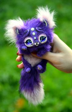 Small Purple Kitten by GakmanCreatures on Etsy