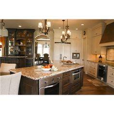 Mix of light & dark cabinetry, lighter counter top  Terri Schmidt