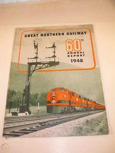 Great Northern Railroad, Trains, Ads, Street, Walkway, Train
