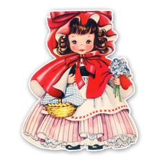 little red riding hood vintage card - Google Search
