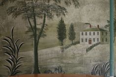 Section of a Rufus Porter mural in Roy Moffa's Oak Hill Road home. (Photo by Lisa Aciukewicz)