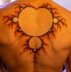 fractal tattoo big fractal on back Dope Tattoos, Black Tattoos, Tatoos, Fibonacci Golden Ratio, Mandelbrot Fractal, Skin Art, Body Mods, Tattoo Designs, Tattoo Ideas