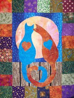 Kitties in Love Quilt Pattern