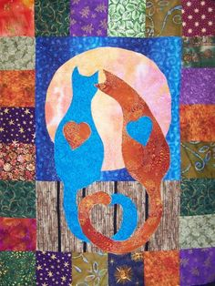 Kitties in Love Quilt Pattern