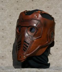 I designed this mask for a custom, he sent me a cartoon image of Starlord in a mask, I had not seen the movie when I created it. Custom mask from GOTG
