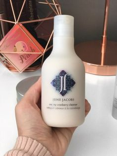 June Jacobs is a new brand on my agenda. Cleanser, Moisturizer, Shelf, Skincare, June, Bottle, Top, Beauty, Spinning Top