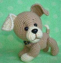 Sweet Dog Head We begin knitting with a light thread. in the satellite pr pr, 1 sb) * 6 18 sb change the thread to a dark + of the offset 10 сбн, 6 сбн, 10 сбн 1 Crochet Amigurumi, Crochet Mittens, Amigurumi Doll, Amigurumi Patterns, Crochet Dolls, Crochet Baby, Crochet Crafts, Crochet Projects, Crotchet Animals