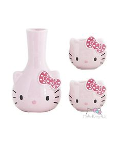 Hello Kitty Sake Set - I Love Hello Kitty - Pink