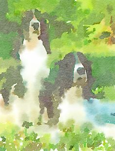 Jake and Kayce, painted in @waterlogue.