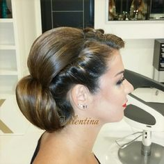 Simple and beautiful hairstyle dome by me in Rolas salon #fashion #hairstyle #hairextension #wavy #beauty #model #makeup #style #salon #nails #kuwait #Ff #retro #Padgram