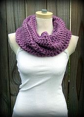 Use any bulky yarn or 2 strands of medium weight yarn to make this simple cowl. This project is great for beginners and easy to customize. Use 1 skein for a shorter cowl, make it a solid color or striped, use your imagination!