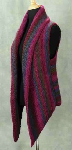 Knit [adaptable to crochet] vest... good for advanced beginners. Pattern available. Inspiration. So pretty for fall!