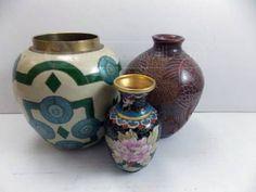 shopgoodwill.com: Three Beautiful Decorated Vases